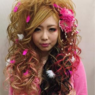 ヘアアレンジ ロング 成人式 カール ヘアスタイルや髪型の写真・画像