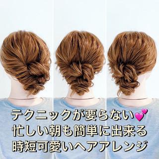 簡単ヘアアレンジ ロング ヘアセット ヘアアレンジ ヘアスタイルや髪型の写真・画像