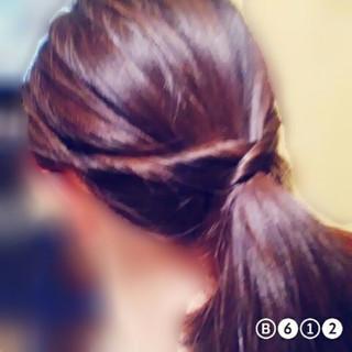 くるりんぱ ショート ポニーテール ヘアアレンジ ヘアスタイルや髪型の写真・画像
