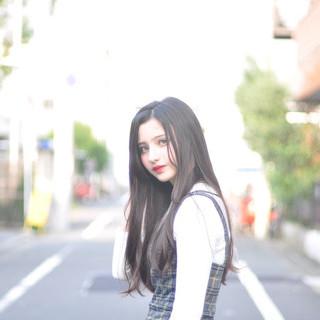 ナチュラル 黒髪 ロング 簡単ヘアアレンジ ヘアスタイルや髪型の写真・画像