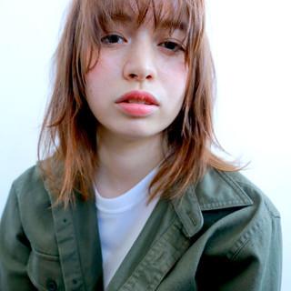 外国人風 シースルーバング 外国人風カラー パーマ ヘアスタイルや髪型の写真・画像