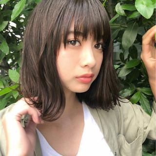 夏 前髪あり 抜け感 大人かわいい ヘアスタイルや髪型の写真・画像