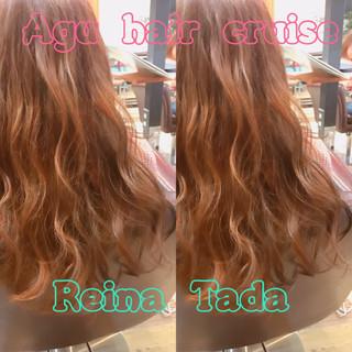 ピンク かわいい フェミニン ガーリー ヘアスタイルや髪型の写真・画像