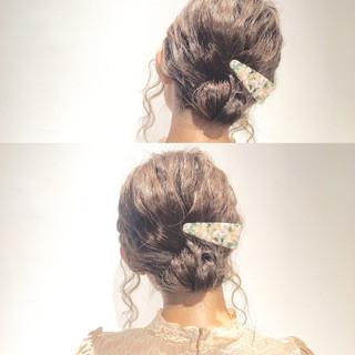 ショート ミディアム 簡単ヘアアレンジ 大人かわいい ヘアスタイルや髪型の写真・画像