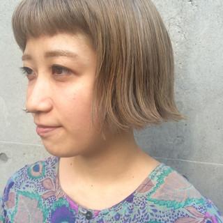 ブリーチ ボブ ショートボブ ストリート ヘアスタイルや髪型の写真・画像