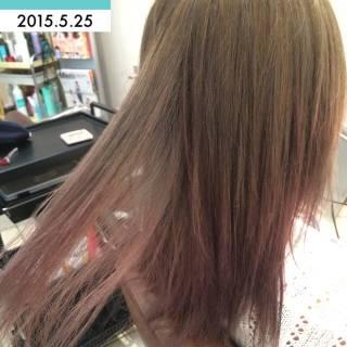 透明感 アッシュ ロング 黒髪 ヘアスタイルや髪型の写真・画像