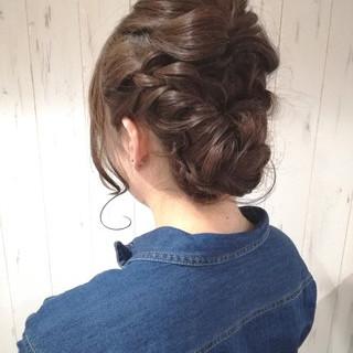 成人式 ヘアアレンジ ナチュラル ショート ヘアスタイルや髪型の写真・画像 ヘアスタイルや髪型の写真・画像