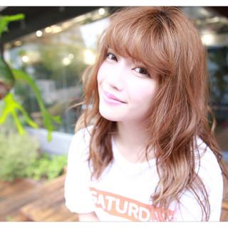 ヘアアレンジ セミロング デート アッシュ ヘアスタイルや髪型の写真・画像