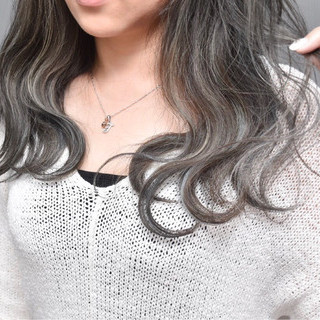 ハイライト セミロング 外国人風 外国人風カラー ヘアスタイルや髪型の写真・画像