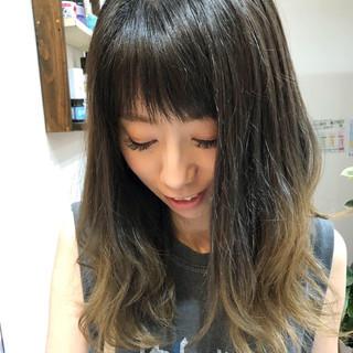 ガーリー グラデーションカラー ハイトーンカラー ロング ヘアスタイルや髪型の写真・画像