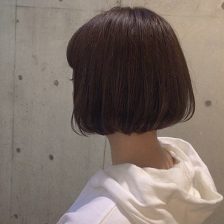 ラフ ナチュラル デート ボブ ヘアスタイルや髪型の写真・画像