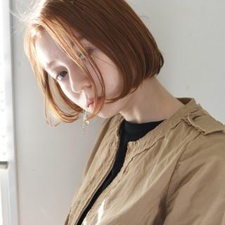 アンニュイ ボブ 切りっぱなし ワンカール ヘアスタイルや髪型の写真・画像