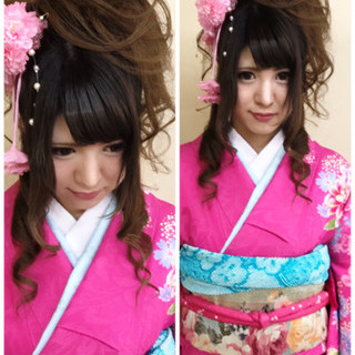 振袖 ハーフアップ 成人式 アップスタイル ヘアスタイルや髪型の写真・画像 ヘアスタイルや髪型の写真・画像