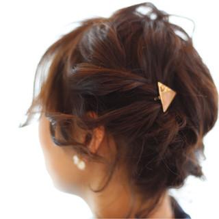 大人女子 ナチュラル ボブ ヘアアレンジ ヘアスタイルや髪型の写真・画像