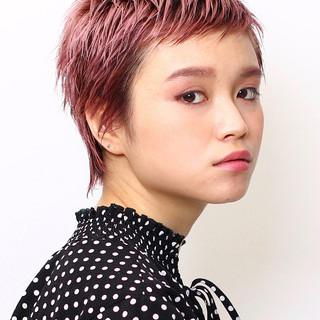 ベビーバング ウェットヘア 春ヘア ショート ヘアスタイルや髪型の写真・画像