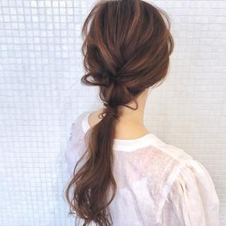 ポニーテール 簡単ヘアアレンジ ヘアアレンジ ロング ヘアスタイルや髪型の写真・画像