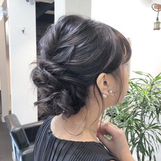 成人式 バレイヤージュ 結婚式 ミディアム ヘアスタイルや髪型の写真・画像 ヘアスタイルや髪型の写真・画像