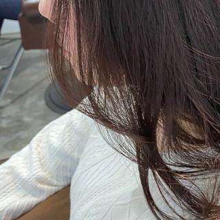 レッド ブリーチ無し チェリーレッド レッドブラウン ヘアスタイルや髪型の写真・画像