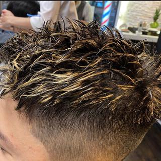 ガーリー ツイスト メンズショート スキンフェード ヘアスタイルや髪型の写真・画像