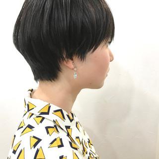 ベリーショート ショートボブ マッシュショート 黒髪 ヘアスタイルや髪型の写真・画像 ヘアスタイルや髪型の写真・画像