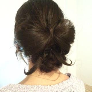 アップスタイル 結婚式 編み込み ヘアアレンジ ヘアスタイルや髪型の写真・画像