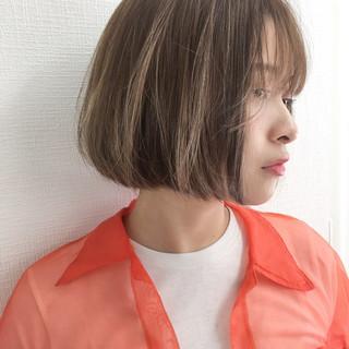 ゆるふわ 外国人風 ハイライト ボブ ヘアスタイルや髪型の写真・画像