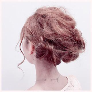 ヘアアレンジ 結婚式 ガーリー 簡単ヘアアレンジ ヘアスタイルや髪型の写真・画像 ヘアスタイルや髪型の写真・画像