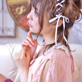 ヘアアレンジ デート ツインテール ガーリー ヘアスタイルや髪型の写真・画像 ヘアスタイルや髪型の写真・画像