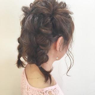ヘアアレンジ ふわふわ ゆるふわ ガーリー ヘアスタイルや髪型の写真・画像 ヘアスタイルや髪型の写真・画像