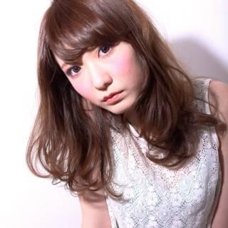 かわいい セミロング 大人かわいい 抜け感 ヘアスタイルや髪型の写真・画像 ヘアスタイルや髪型の写真・画像