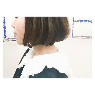 ストレート ワンレングス ナチュラル ハイライト ヘアスタイルや髪型の写真・画像
