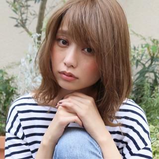 女子会 ミディアム アンニュイ パーマ ヘアスタイルや髪型の写真・画像