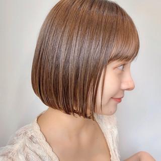 ミニボブ インナーカラー ボブ ショートヘア ヘアスタイルや髪型の写真・画像