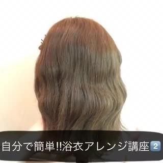 ショート 簡単ヘアアレンジ 花火大会 ヘアアレンジ ヘアスタイルや髪型の写真・画像