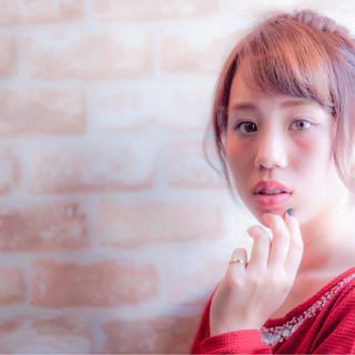 簡単ヘアアレンジ ピュア 前髪あり 大人かわいい ヘアスタイルや髪型の写真・画像