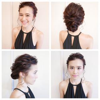 ゆるふわ ブライダル ミディアム 結婚式 ヘアスタイルや髪型の写真・画像 ヘアスタイルや髪型の写真・画像