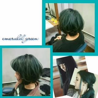ウェットヘア ストリート パンク ハイトーン ヘアスタイルや髪型の写真・画像