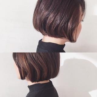 ショートボブ ハイライト 外国人風 インナーカラー ヘアスタイルや髪型の写真・画像 ヘアスタイルや髪型の写真・画像