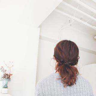 ヘアアレンジ ミディアム ポニーテール ショート ヘアスタイルや髪型の写真・画像