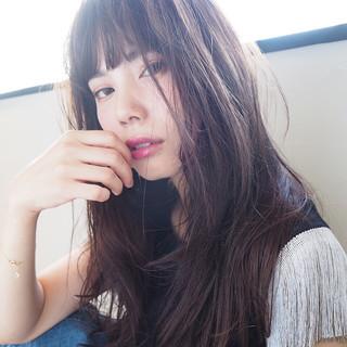 くせ毛風 ナチュラル ピュア ロング ヘアスタイルや髪型の写真・画像