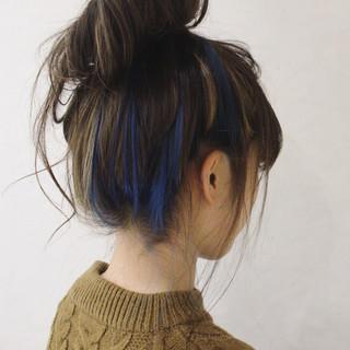 ショート ハイライト 外国人風 アッシュ ヘアスタイルや髪型の写真・画像