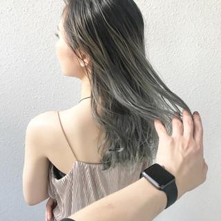 グラデーションカラー ブリーチ ハイトーン ガーリー ヘアスタイルや髪型の写真・画像
