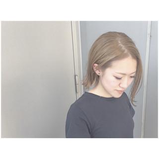 ハイトーン ストリート 外国人風カラー グレージュ ヘアスタイルや髪型の写真・画像