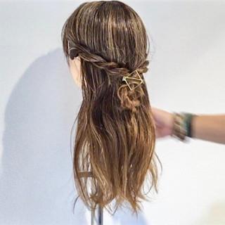 簡単ヘアアレンジ 女子会 ロング ヘアアレンジ ヘアスタイルや髪型の写真・画像