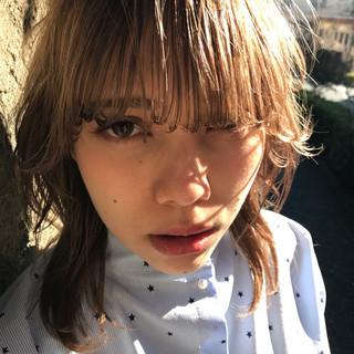 大人女子 ガーリー 小顔 ハイライト ヘアスタイルや髪型の写真・画像