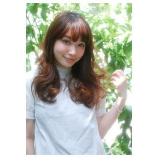 前髪あり コンサバ ブラウン 大人かわいい ヘアスタイルや髪型の写真・画像