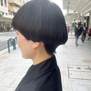 ボブ マッシュショート マッシュ ナチュラル ヘアスタイルや髪型の写真・画像