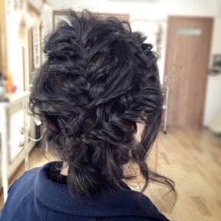 アップスタイル ヘアアレンジ コンサバ 編み込み ヘアスタイルや髪型の写真・画像 ヘアスタイルや髪型の写真・画像