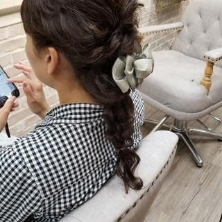 抜け感 結婚式 パーティ 涼しげ ヘアスタイルや髪型の写真・画像