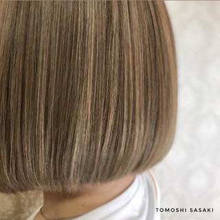 ボブ 3Dハイライト 派手髪 ブリーチ必須 ヘアスタイルや髪型の写真・画像